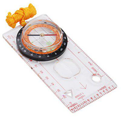 Professional Mini Compass Map Scale Ruler Multifunctional Equipment Portable Outdoor Hiking Camping Survival Tool