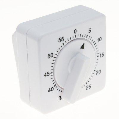 Square Kitchen Timer Mechanical Rotation Timepiece Time Reminder