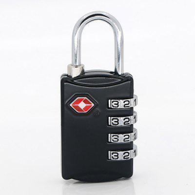 TSA309 4 Digit Zinc Alloy Password Lock Number Padlock for Travel Luggage and Bag