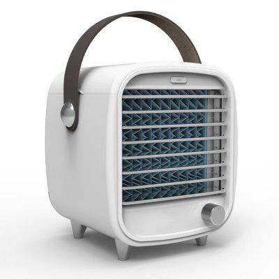 Portable Mini Retro Ice Cooling Fan Small Desktop Air Cooler Built-in Ice Grid