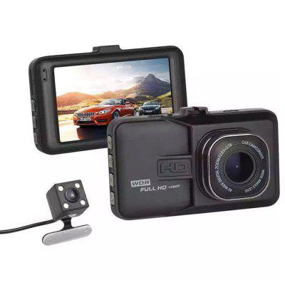HD 1080P Tachigrafo Dell'Automobile DVR Doppia Fotocamera Registratore Dati Dell'Automobile
