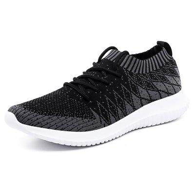AILADUN Men Sneaker All-match Ultralight Breathable Flying Woven Casual Footwear