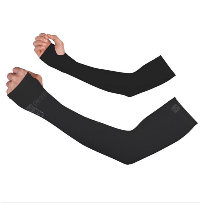 NUCKILY Seamless Sleeves Running Icy Summer Wire Long Male Female UV Sunscreen Sleeves