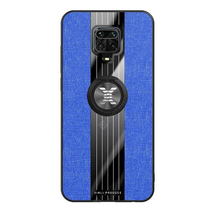 """""""Car Phone Shell Case Cover with Magnetic Ring for Xiaomi Redmi Note 9S / 9 Pro / 9 Pro Max - Cobalt Blue"""""""