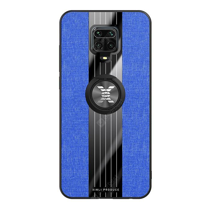 """""""Car Phone Shell Case Cover with Magnetic Ring for Xiaomi Redmi Note 9S / 9 Pro / 9 Pro Max - Blueberry Blue"""""""