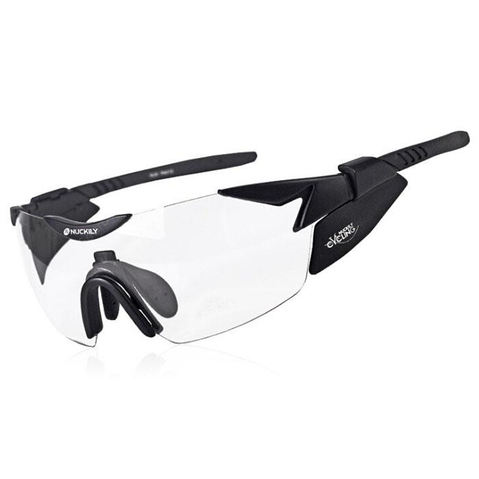 NUCKILY PA010 Outdoor Sports Running Automatic Color Changing Riding Cycling Glasses Night Vision with Myopia Sunglasses