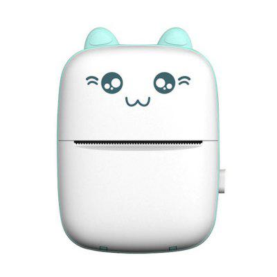 Cute Cat Shape Mini Thermal Bluetooth Printer for Learning Materials Photo Printing 57 x 30mm Paper Size