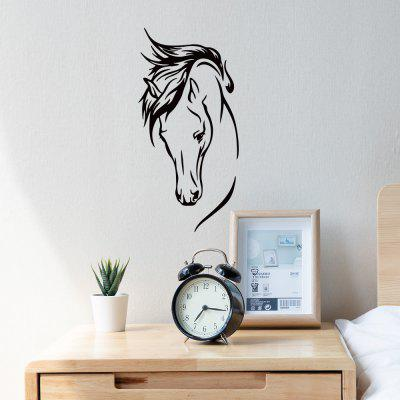 A11 Horse Head Pattern Wall Sticker Personality Fashion Living Room Bedroom Sofa Background Removable Wallpaper