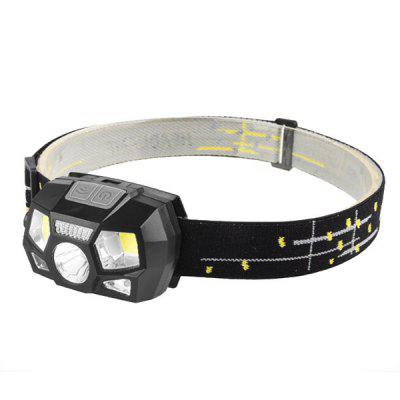 USB Charging LED Induction Camping Light Fishing Running Sports Waterproof Headlamp dual color 2w 120lm 18 smd led white light yellow flashing turn light daytime running lamp pair