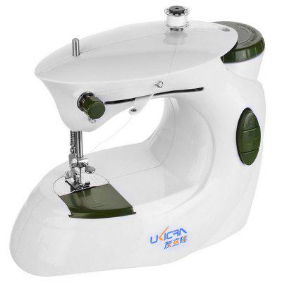 0201 Household Multi-function Mini Electric Sewing Machine with Double Wire All-metal Presser Foot