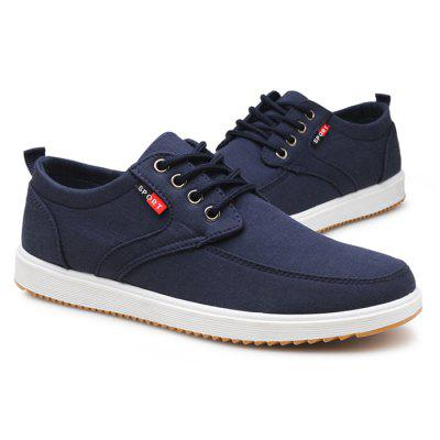 Men Casual Shoes Lace-Up Closure Round Toe Canvas Upper Comfortable Footwear