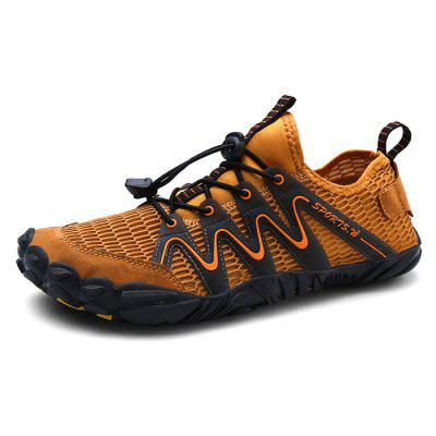 AILADUN Men Summer Outdoor Swimming Shoes Breathable Air Mesh Round Toe Wading Casual Footwear
