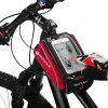 NUCKILY PL06 Bicycle Upper Tube Bag Mountain Bike Front Frame Saddle Package Waterproof Touch Screen Mobile Phone Navigation Pack Riding Equipment Accessories - RED