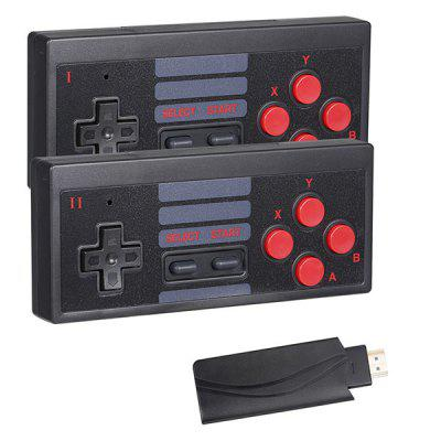 RS-54 USB Wireless Handheld TV Video Game Console Build in 628 Classic Games Mini Dual Gamepad 1080 Output 2.4G Wireless Controller