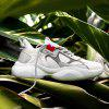 AILADUN Men Shoes Breathable Air Mesh Lace-Up Casual Footwear - WHITE