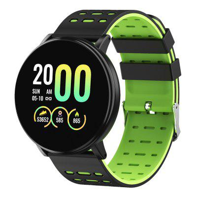 Фото - Gocomma 119Plus Sports Pedometer Heart Rate Smart Watch Dual Color Strap Smartwatch smael 1545c fashion shockproof men s sports watch couple multi function electronic watch