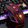 E-sports Game USB Optical Mechanical Wired Mouse - BLACK