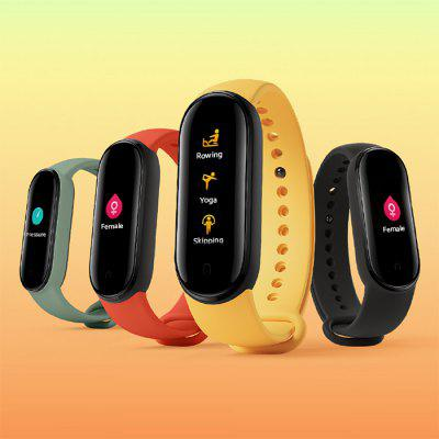 Gearbest Xiaomi Mi Band 5 Smart Wristband 1.1 inch Color Screen Wristband with Magnetic Charging 11 Sports Modes Remote Camera Bluetooth 5.0 Global Version
