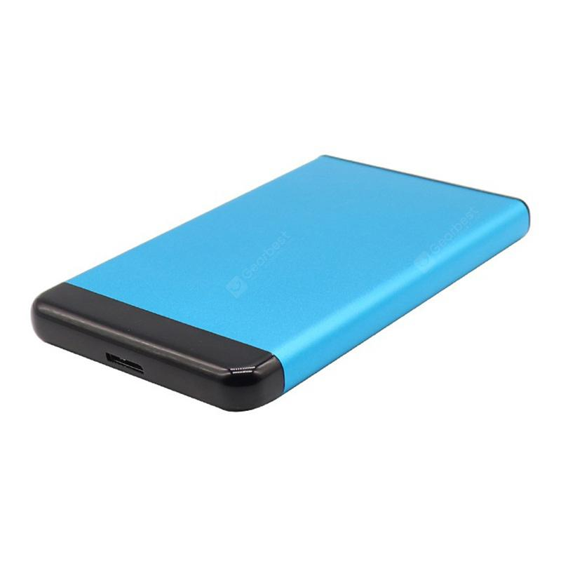 2.5 inch USB3.0 to SATA Aluminum Alloy Metal External Enclosure Plug and Play Snap Design Compatible with Windows and MAC OS System