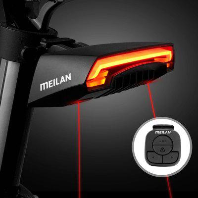 Meilan X5 Bike Intelligent Diversion Brake Wireless Taillight High Brightness USB Charging Dual Colors Light