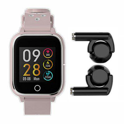 M6 2-in-1 Smart Watch TWS Headset Smartwatch Support Bluetooth Call Pedometer Heart Rate Call Reminder Sports Health Image