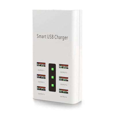 XL-A5 Portable 6-port 30W High Power Travel Adapter 6A Multi-port Charger