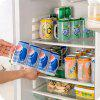 Cans Organizer Storage Box Pull Type 4 Section Refrigerator Drink Finishing Frame Bins - TRANSPARENT