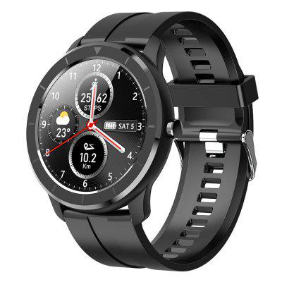 Gocomma T6 Full Round Touch Smart Watch Heart Rate Blood Pressure Sports Smartwatch