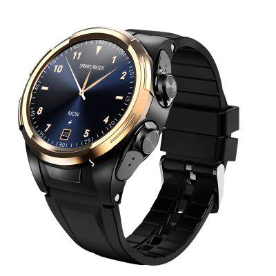 OVISEN S201 Both Hands Wearable TWS Headset 2-in-1 Smart Watch Real-time Temperature Monitoring Pedometer Heart Rate Blood Pressure Blood Oxygen Health Smartwatch Support Dial 180 Degree Rotation Image