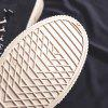 Men Breathable Canvas Shoes Solid Color Round Toe Flat Heel Casual Footwear - WHITE