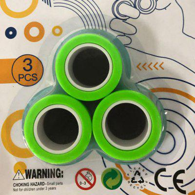 Decompression Toys Magnetic Ring  Top 3PCS