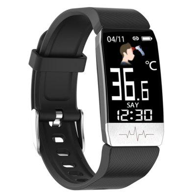 Gocomma AD17 Temperature Fitness Tracker GPS Sports Tracking Watch Big Ultra Retina Screen Weather Report Medical Grade Monitor Heart Rate Blood Pressure Smart Watch