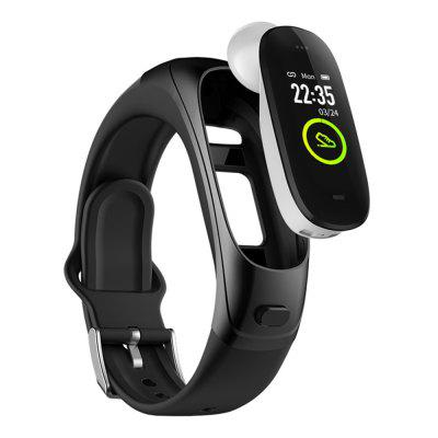 KUMI V08 Pro Bluetooth Headset + Smart Bracelet 2-in-1 Support 24 Hours Continuous Heart Rate Sports Detection Bluetooth Call Voice Assistant Wristband