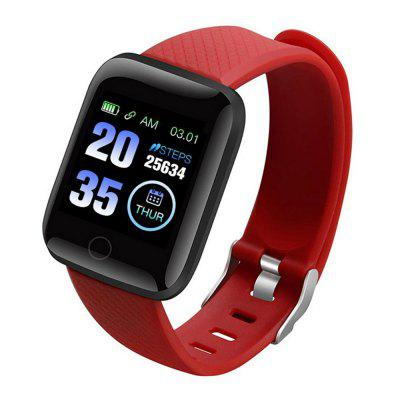 Gocomma 116 Plus Smart Watch Color Screen Heart Rate Blood Pressure Monitoring Pedometer Sports Smartwatch