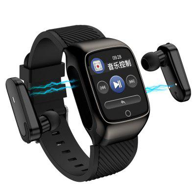 DT13 Bluetooth Headset Smart Watch Headphone Control Phone Music Fitness Tracker Medical Grade PPG ECG Weather Forecast Smartwatch Image
