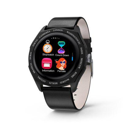 V18 Smart Watch IPS Full Touch Screen Heart Rate and Blood Pressure Monitoring Real-time Pedometer Strap Multicolor Splicing Smartwatch