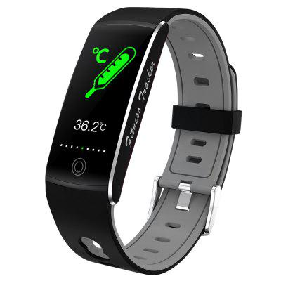 DT72 Temperature Detection Smart Bracelet Fitness Tracker Multifunctional Exercise Blood Pressure Heart Rate Large Color Touch Screen Wristband