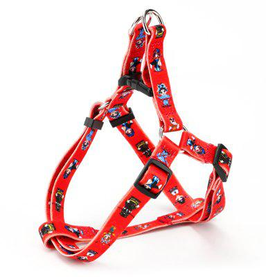 Thermal Transfer Polyester I-shaped Chest Strap Traction Rope Pet Supplies