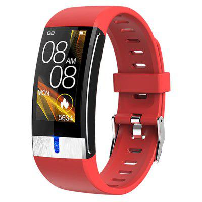 E88 Smart Bracelet Thermometer Fitness Tracker Bluetooth Call Health Watch ECG + PPG Heart Rate Oxygen Monitoring Waterproof Fitness Wristband