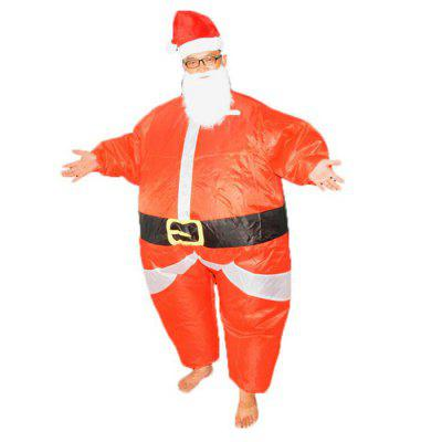 Christmas Halloween Costume Inflatable Santa Claus Dolls Walking Clothes Adult Stage