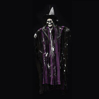 Halloween Horror Haunted House Decoration Props Electric Sound Toys Luminous Voice Skull Small Hanging Ghost