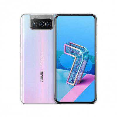 ASUS Zenfone 7 Pro 5G Smartphone 8GB RAM 256GB ROM Snapdragon 865Plus 64MP + 12MP + 8MP Rear Camera 5000mAh NFC Android 10 6.67-inch 90Hz Global Version - White