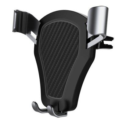 S135 Universal Car Metal Air Outlet Gravity Lock Bracket Phone Holder with Horizontal Screen