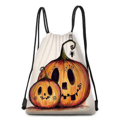 Halloween Element Pumpkin Pattern Bundle Pocket Storage Backpack