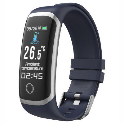 T4 Smart Bracelet Real-time Temperature Private Mode Continuous Heart Rate and Blood Pressure Monitoring Exercise Pedometer Wristband