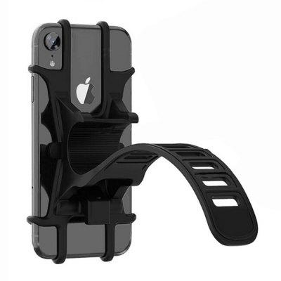 Bicycle Mountain Bike Silicone Phone Holder Electric Car Navigation Bracket Riding Shockproof Anti-drop Mobile Stand