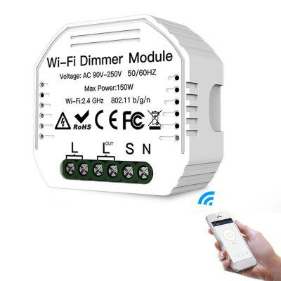 MoesHouse MS-105 AC90-240V DIY Smart WiFi Light LED Dimmer Switch Life / Tuya APP Remote Control 1/2 Way Works with Alexa Google Home