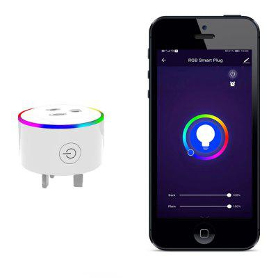MoesHouse WK-UKY-L WiFi Smart UK Plug Wireless RGB Power Socket Life / Tuya App Remote Control Work with Alexa Google Home