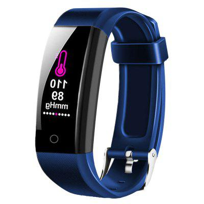 W6 Smart Bracelet Bluetooth Heart Rate Monitoring Multi-Motion Tracker Fitness Pedometer Information Reminder IP67 Waterproof Wristband for Android and iOS