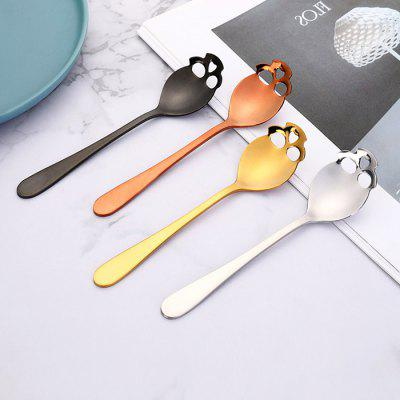 Skull Sugar Spoon Stainless Steel PVD Titanium Coated 304 Mixing Kitchen Dinnerware